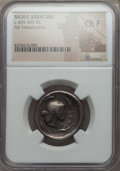Ancients:Greek, Ancients: SICILY. Syracuse. Deinomenid Tyranny, ca. 485-465 BC. ARtetradrachm. NGC Choice Fine....