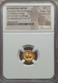 Ancients:Byzantine, Ancients: Heraclius & Heraclius Constantine (AD 613-641). AVsolidus (4.45 gm). NGC XF 5/5 - 4/5....