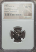 Ancients:Celtic, Ancients: EASTERN CELTS. Imitating Chian issue of Alexander III(336-323 BC). AR drachm. NGC Choice VF....