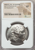 Ancients:Greek, Ancients: THRACIAN ISLANDS. Thasos. Ca. 168-148 BC. AR tetradrachm.NGC VF....