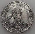 German States:Saxony, German States: Saxony. Johann Georg II Taler 1671-CR VF - Mounted Tooled,...