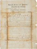Miscellaneous, Milam County Post-Civil War Oath of Allegiance. ...