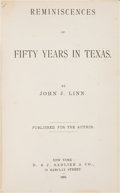 Books:Americana & American History, John J. Linn. Reminiscences of Fifty Years in Texas. NewYork: D. & J. Sadlier & Co., 1883....