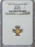 California Fractional Gold: , 1874/3 50C Indian Octagonal 50 Cents, BG-945, High R.4, MS62Prooflike NGC. NGC Census: (3/6). ...