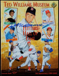 Autographs:Photos, Ted Williams Signed Museum Program....