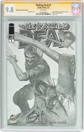 Modern Age (1980-Present):Horror, The Walking Dead #1 Wizard World Cleveland Sketch Edition -Signature Series (Image, 2015) CGC NM/MT 9.8 White pages....