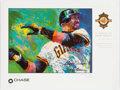 Autographs:Photos, LeRoy Neiman Signed Barry Bonds Poster. ...