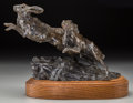 Fine Art - Sculpture, American:Contemporary (1950 to present), Sherry Salari-Sander (American, b. 1941). Hare, 1978. Bronzewith brown patina. 8 inches (20.3 cm) high on a 2 inches (5...