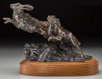 Sherry Salari-Sander (American, b. 1941) Hare, 1978 Bronze with brown patina 8 inches (20.3 cm) h