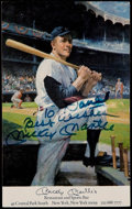Autographs:Photos, Mickey Mantle Signed Post Card. ...