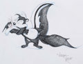 Animation Art:Production Drawing, Virgin Ross - Pepe le Pew and Penelope Illustration (WarnerBrothers, c. 1990s)....