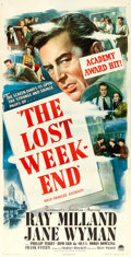 "Movie Posters:Academy Award Winners, The Lost Weekend (Paramount, 1945). Three Sheet (41"" X 79.5"").. ..."