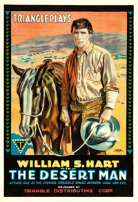 "The Desert Man (Triangle, 1917). One Sheet (27.75"" X 41"")"