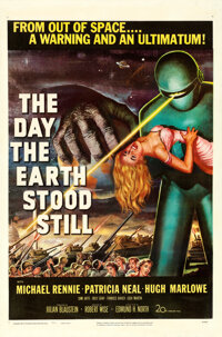 "The Day the Earth Stood Still (20th Century Fox, 1951). One Sheet (27"" X 41"")"