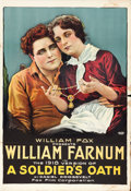 "Movie Posters:Drama, A Soldier's Oath (Fox, R-1918). One Sheet (27"" X 41"") ReunionStyle.. ..."