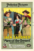 "Movie Posters:Western, Men of the Desert (Essanay, 1917). One Sheet (28"" X 42"").. ..."