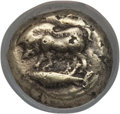 Ancients:Greek, Ancients: MYSIA. Cyzicus. Ca. 500-450 BC. AR 12th stater orhemihecte (1.19 gm). NGC VF 5/5 - 3/5....