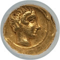 Ancients:Greek, Ancients: CYRENAICA. Cyrene. Ca. 435-331 BC. AV 10th stater (0.88gm). NGC AU 5/5 - 3/5, edge marks....