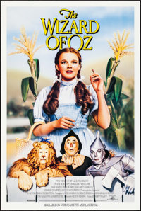 """The Wizard of Oz (MGM/UA, R-1988/R-1992). Video Posters (2) (19.75"""" X 36"""" & 24"""" X 36""""). Fant..."""
