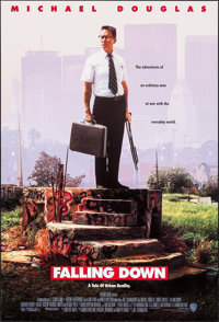 """Falling Down & Other Lot (Warner Brothers, 1993). One Sheets (2) (26.75"""" X 39.75"""" & 27"""" X 40""""..."""