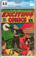 Golden Age (1938-1955):Superhero, Exciting Comics #9 (Nedor/Better/Standard, 1941) CGC VG 4.0 Slightly brittle pages....