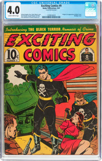 Exciting Comics #9 (Nedor/Better/Standard, 1941) CGC VG 4.0 Slightly brittle pages