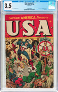 Golden Age (1938-1955):Superhero, USA Comics #17 (Timely, 1945) CGC VG- 3.5 Light tan to off-white pages....