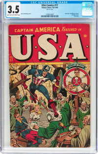 USA Comics #17 (Timely, 1945) CGC VG- 3.5 Light tan to off-white pages