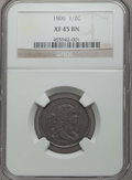 Half Cents: , 1806 1/2 C Small 6, No Stems XF45 NGC. PCGS Population: (67/306). Mintage 356,000. ...