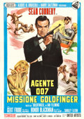 "Movie Posters:James Bond, Goldfinger (United Artists, 1964). Italian 2 - Fogli (39"" X 54"")....."