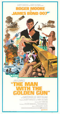 "The Man with the Golden Gun (United Artists, 1974). International Three Sheet (41"" X 81""). James Bond"