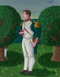 Fine Art - Painting, American:Contemporary   (1950 to present)  , Oscar de Mejo (American, 1911-1992). Napoleon, 1976. Oil oncanvas. 26 x 20 inches (66.0 x 50.8 cm). Signed and dated up...