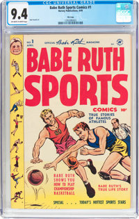 Babe Ruth Sports Comics #1 File Copy (Harvey, 1949) CGC NM 9.4 Off-white to white pages