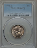 Jefferson Nickels, (2)1950-D 5C MS66 Full Steps PCGS.... (Total: 2 coins)