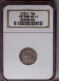 Bust Dimes: , 1814 10C Large Date MS65 NGC. NGC Census: (12/8). PCGS Population(4/1).Mintage: 421,500. Numismedia Wsl. Price: $8,050. (#...