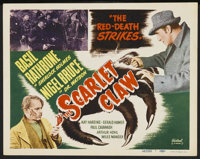 "The Scarlet Claw (Realart, R-1948). Title Lobby Card (11"" X 14""). Mystery"