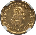 Mexico, Mexico: Philip V gold Escudo 1735 Mo-MF AU Details (SurfaceHairlines) NGC,...