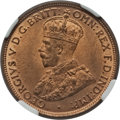 Australia, Australia: George V 1/2 Penny 1912-H MS65 Red and Brown NGC,...