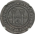 Mexico, Mexico: Carlos & Johanna 4 Reales ND (1542-1543 and 1544-1545)G-M AU58 NGC,...
