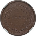 Argentina, Argentina: Buenos Aires. Provincial copper Proof Pattern Decimo1822 MS64 Brown NGC,...