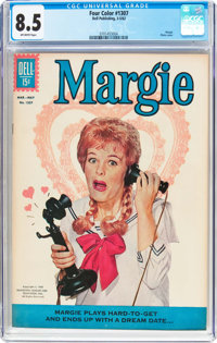 Four Color #1307 Margie (Dell, 1962) CGC VF+ 8.5 Off-white pages