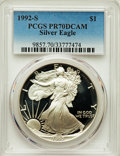 Modern Bullion Coins: , 1992-S $1 Silver Eagle PR70 Deep Cameo PCGS. PCGS Population: (1345). NGC Census: (1147)....