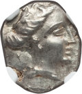 Ancients:Greek, Ancients: EUBOEAN ISLANDS. Histaea. Ca. 3rd-2nd centuries BC. ARtetrobol (2.39 gm). NGC MS 5/5 - 5/5....
