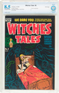 Golden Age (1938-1955):Horror, Witches Tales #2 File Copy (Harvey, 1951) CBCS VF+ 8.5 Cream tooff-white pages....