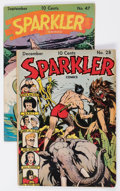 Golden Age (1938-1955):Miscellaneous, Sparkler Comics #28 and 47 Group (United Features Syndicate, 1943-45) Condition: Average FN.... (Total: 2 Comic Books)