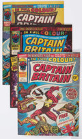 Magazines:Superhero, Captain Britain Group of 10 (Marvel, 1976) Condition: AverageVF.... (Total: 10 Comic Books)