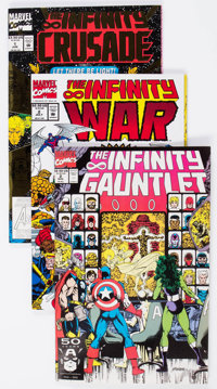 The Infinity Gauntlet and Related Comics Group of 16 (Marvel, 1990s) Condition: Average VF.... (Total: 16 Comic Books)