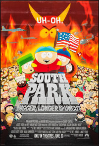 "South Park: Bigger Longer & Uncut & Other Lot (Paramount, 1999). One Sheets (2) (27"" X 40"") DS..."