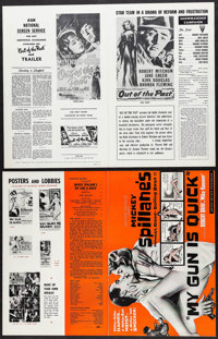 """Out of the Past & Others Lot (RKO, R-1957). Pressbooks (24) (Multiple Pages, 11"""" X 14"""" - 13.5"""" X..."""
