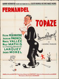 "Movie Posters:Foreign, Topaze (Gaumont, 1951). French Grande (47"" X 63""). Foreign.. ..."